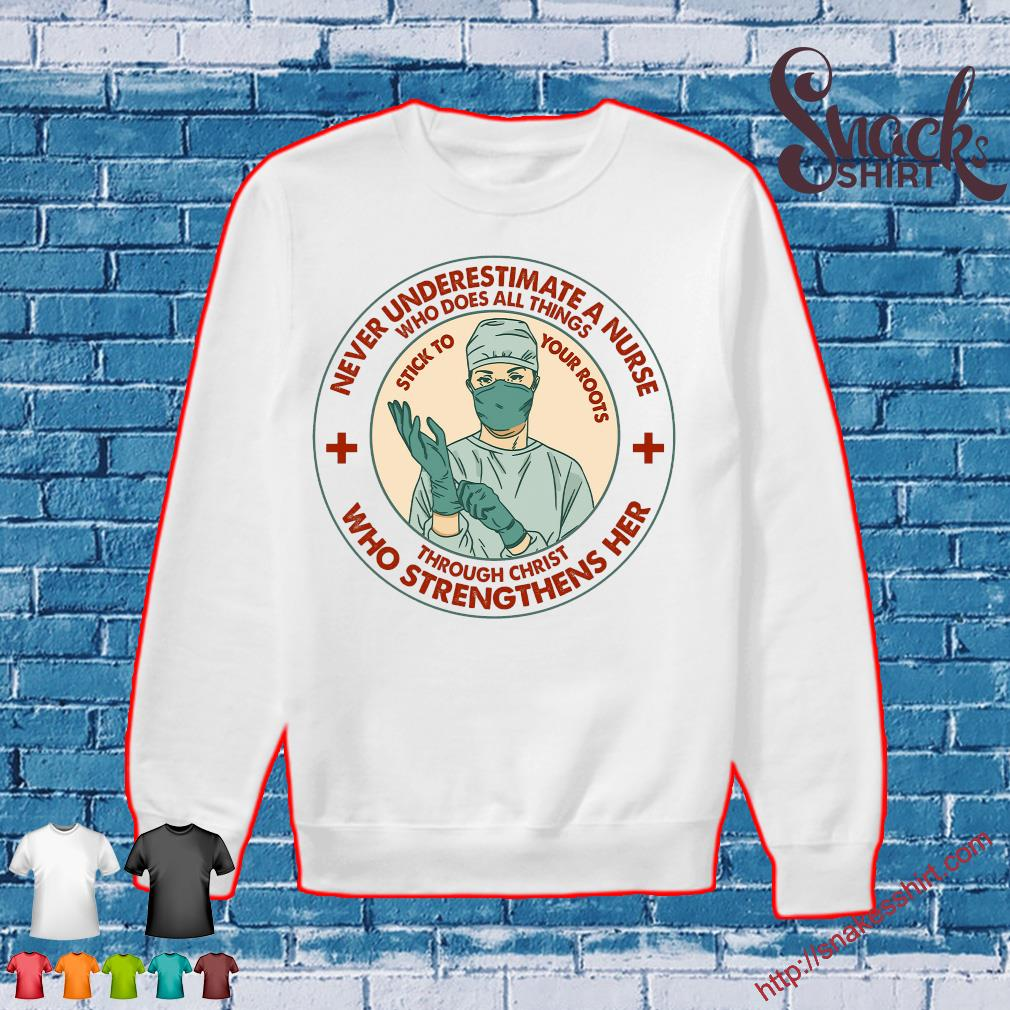 Never underestimate a nurse who does all things through christ who strengthens her Sweater