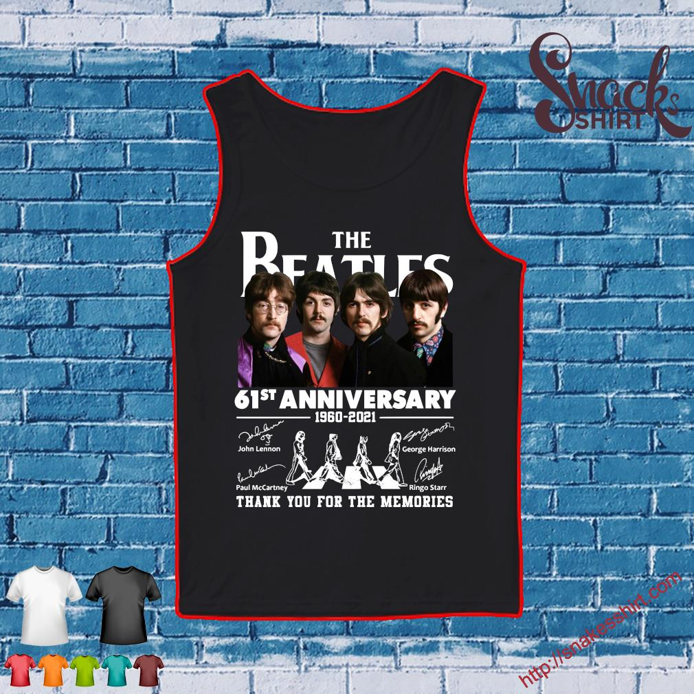 The Beatles 61st anniversary 1960 2021 thank you for the memories Tank top