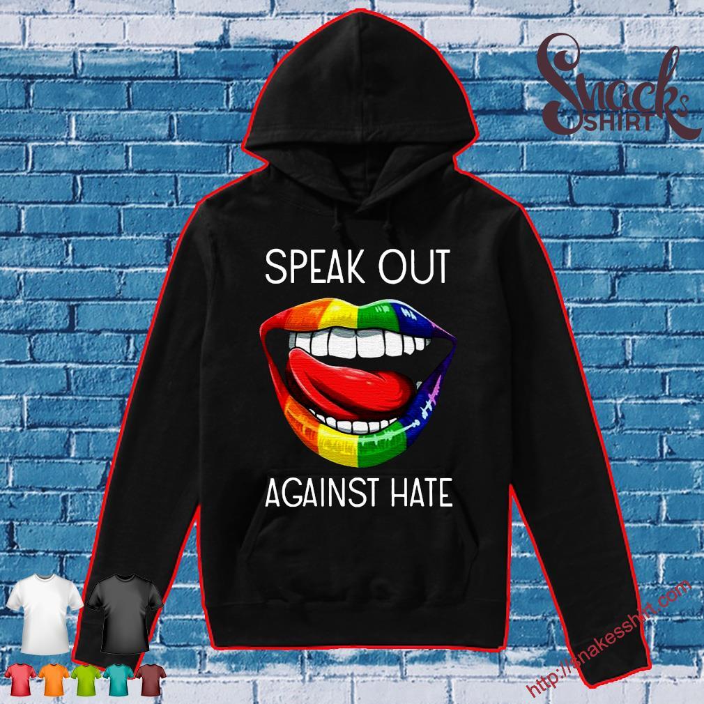 LGBT lip speak out against hate Hoodie