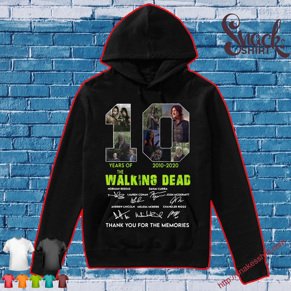 10 years of 2010 2020 the Walking Dead Thank You for the memories s Hoodie