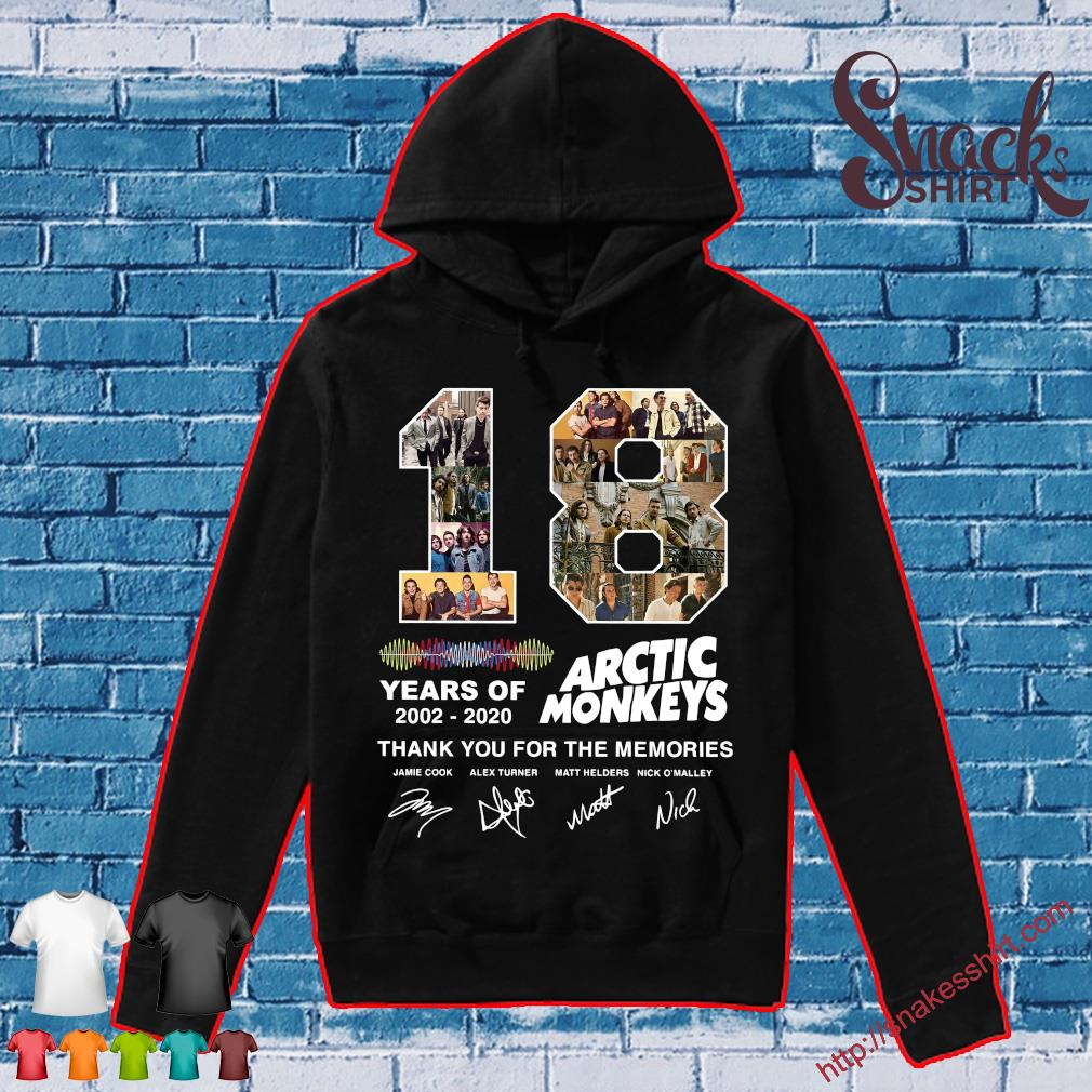 18 years of 2002 2020 Arctic Monkey thank You for the memories s Hoodie