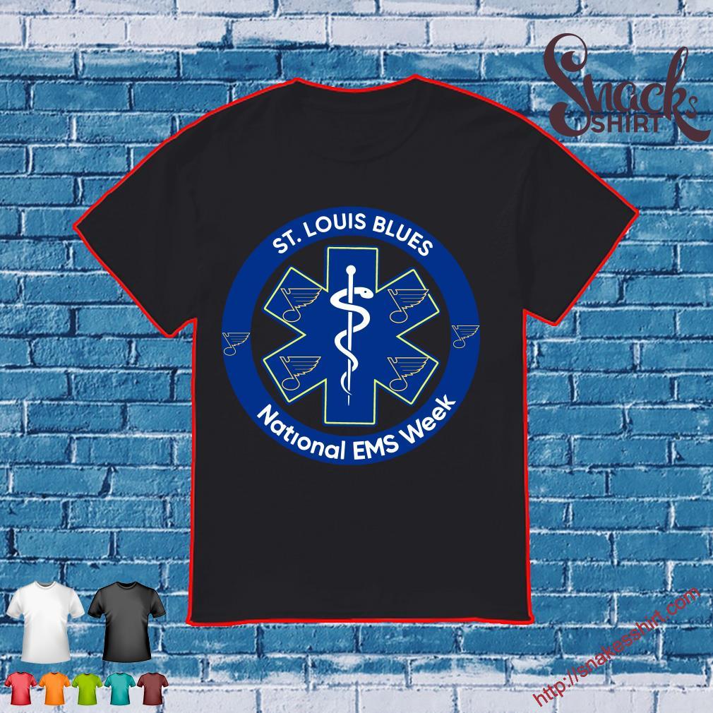 Official St Louis Blues National EMS week Nurse shirt