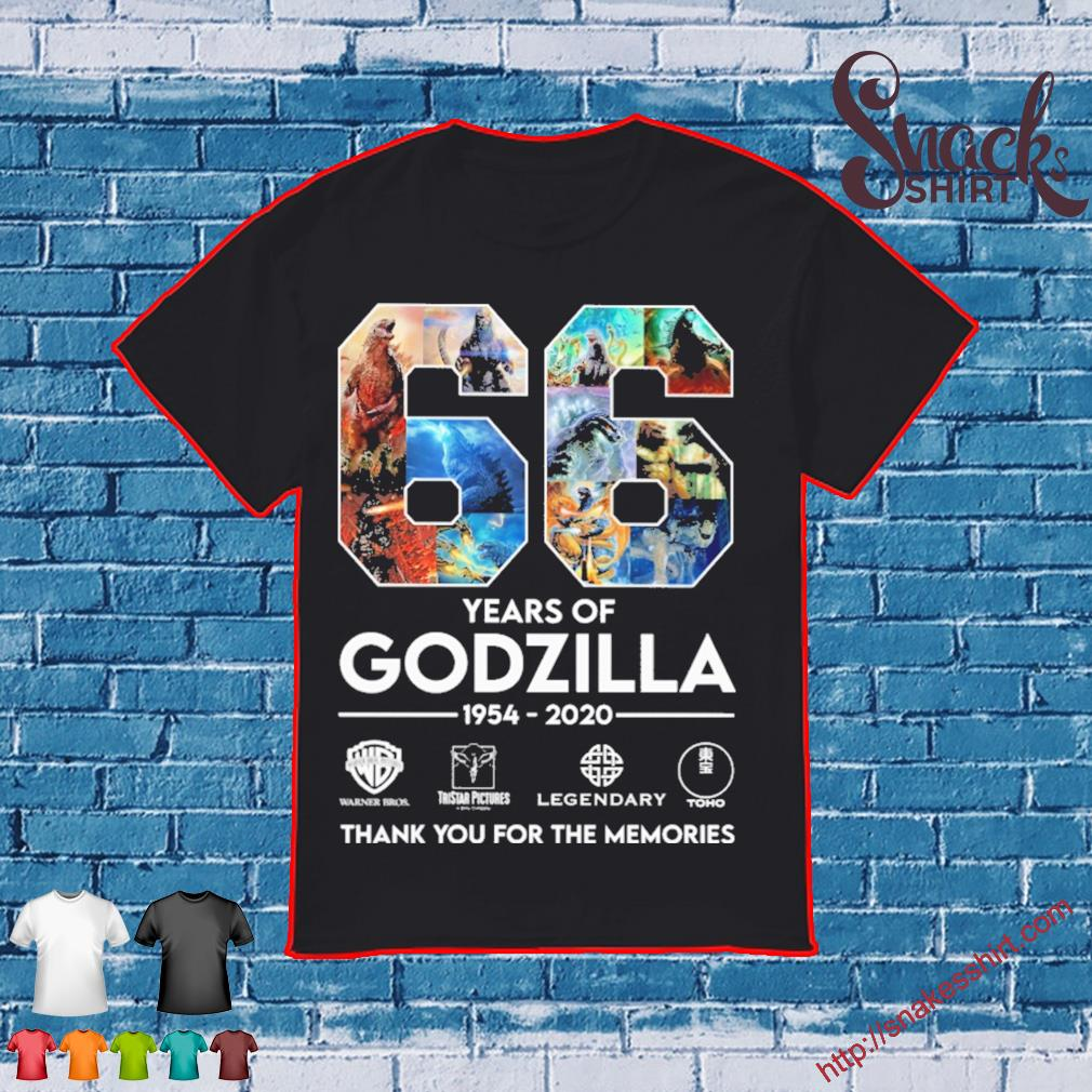 66 years of Godzilla 1954 2020 thank you for the memories shirt