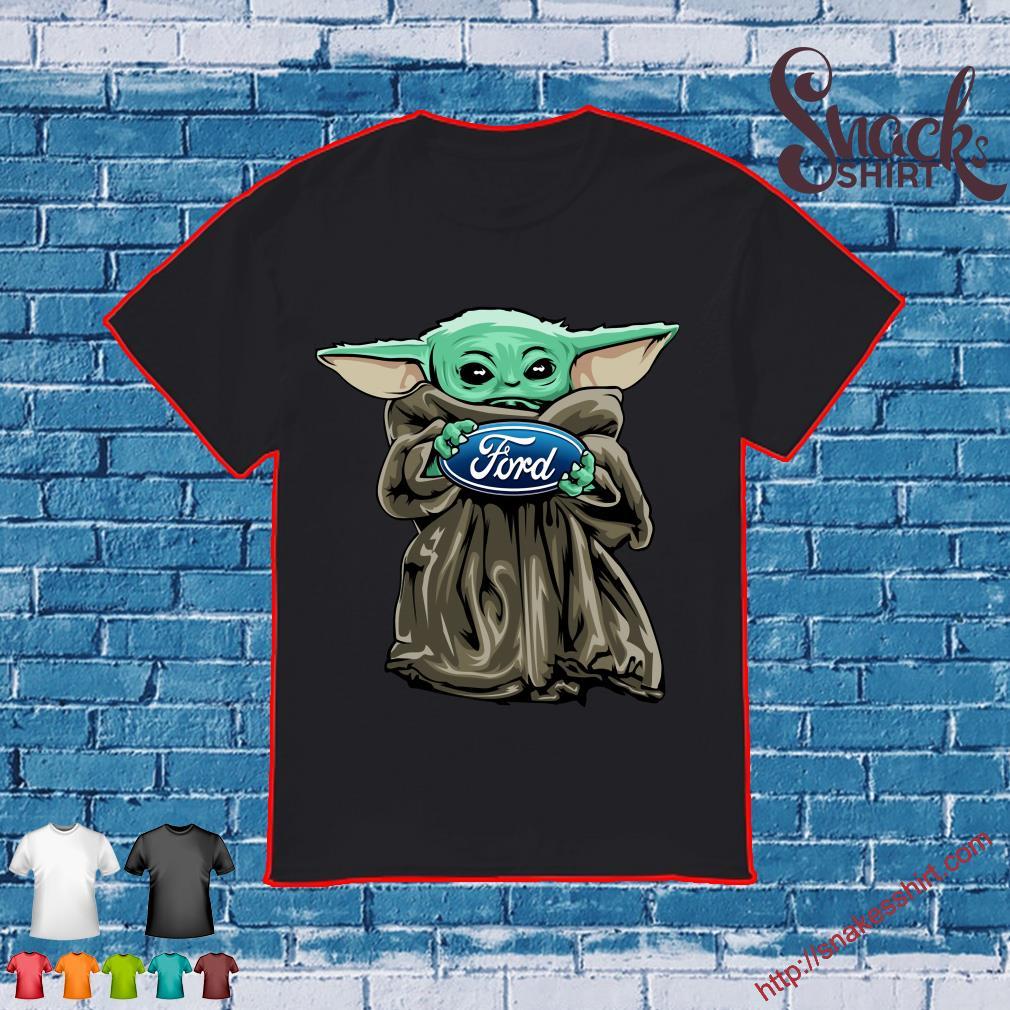 Baby Yoda hug Ford logo shirt