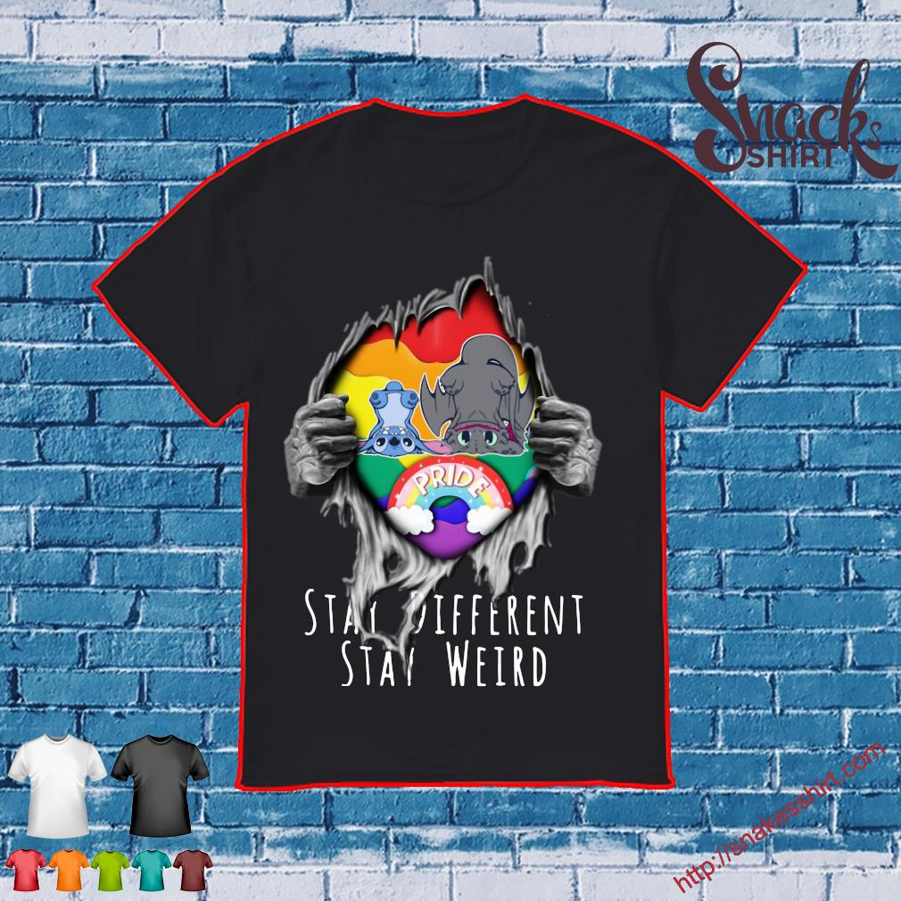 Blood inside Me Stitch and Night Fury stay Different stay weird shirt