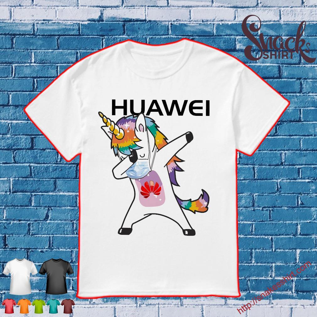 Dabbing Unicorn mask Huawei logo Coronavirus Shirt