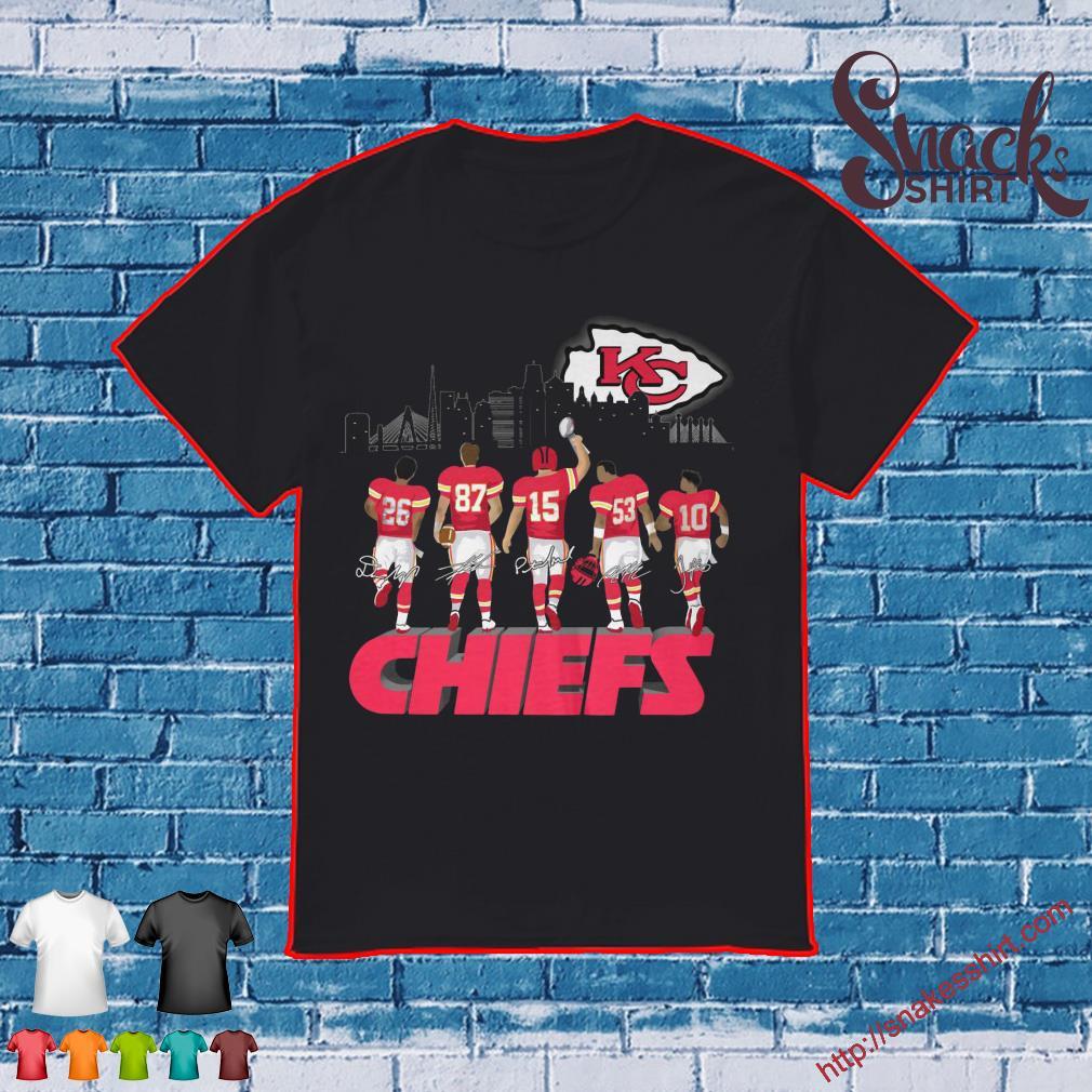 Kansas City Chiefs #26 #87 #15 #53 #10 Legends signatures shirt