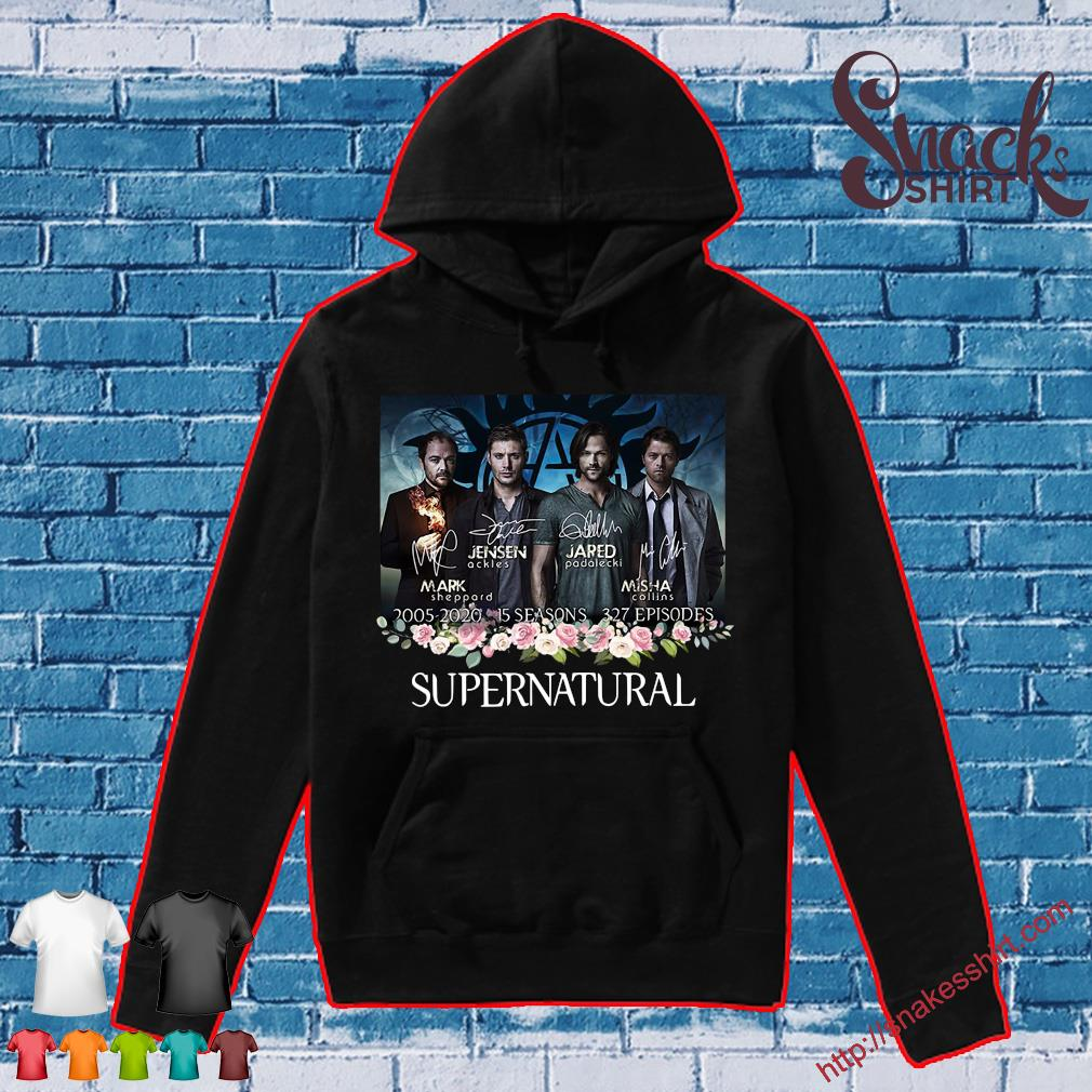Supernatural 2005 2020 15 seasons 327 episodes signatures s Hoodie