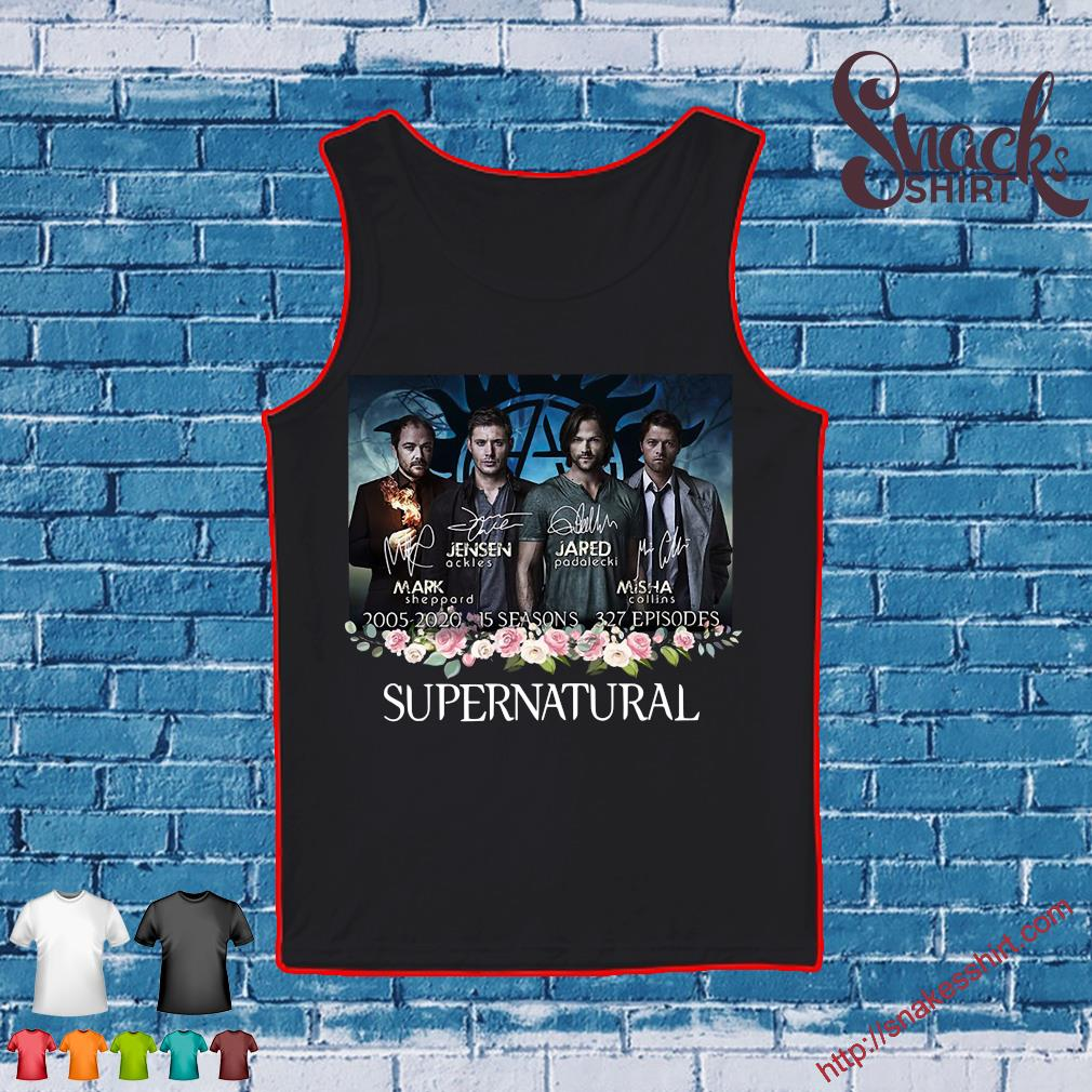 Supernatural 2005 2020 15 seasons 327 episodes signatures s Tank top