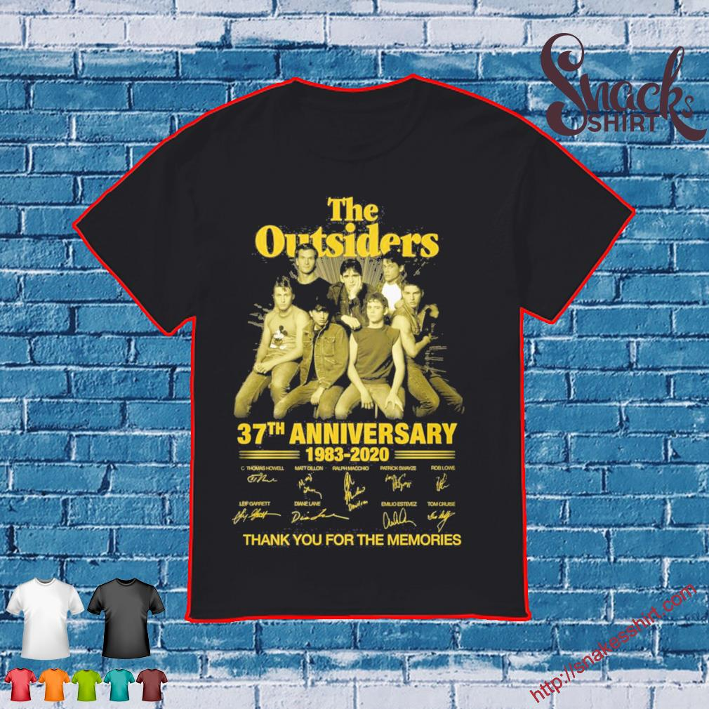 The Outsiders 37th anniversary 1983 2020 thank You for the memories signatures Shirt