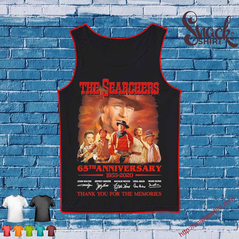 The searchers 65th anniversary 1955 2020 thank You for the memories signatures s Tank top