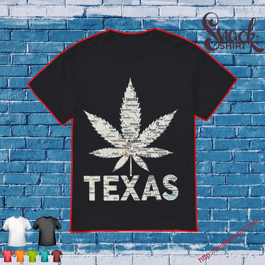 Weed Texas to map shirt
