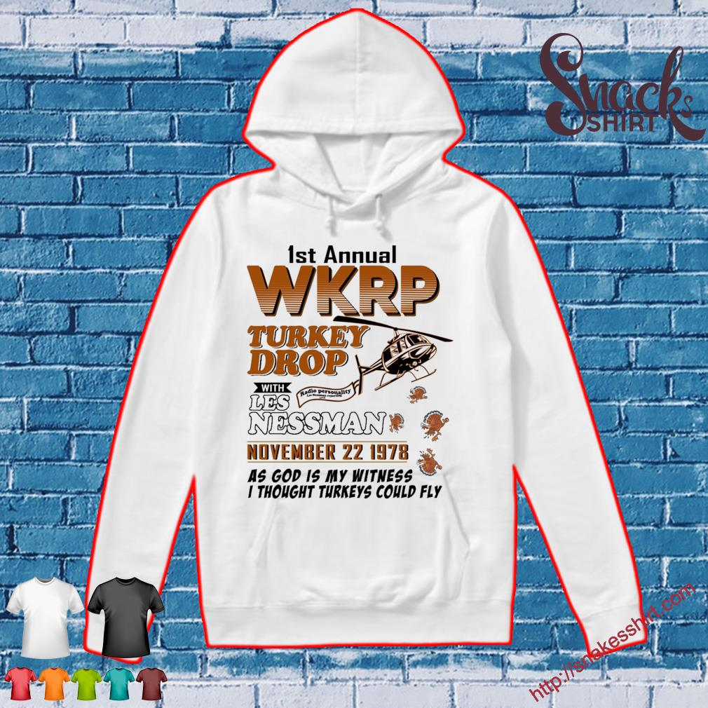 1st annual Wkrp Turkey Drop with Les Nessman november 22 1978 s Hoodie
