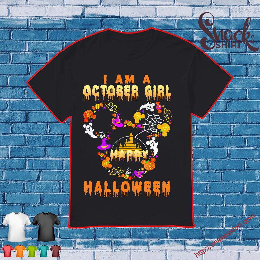 Disney I am a October girl happy halloween shirt