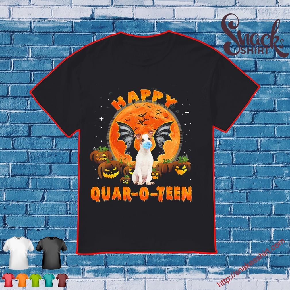 Dog face mask happy Quar-o-teen shirt