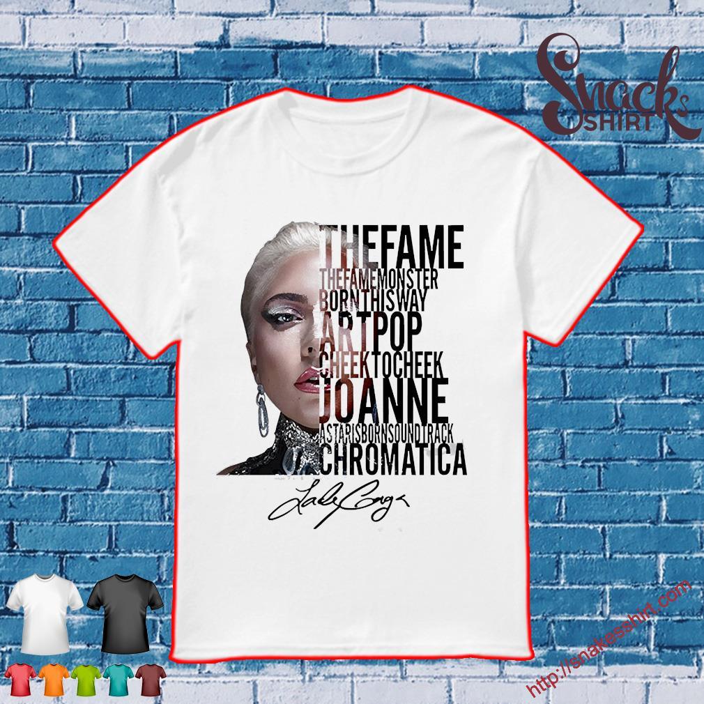 Lady gaga the fame monster born this way artpop cheek to Cheek Joanne shirt