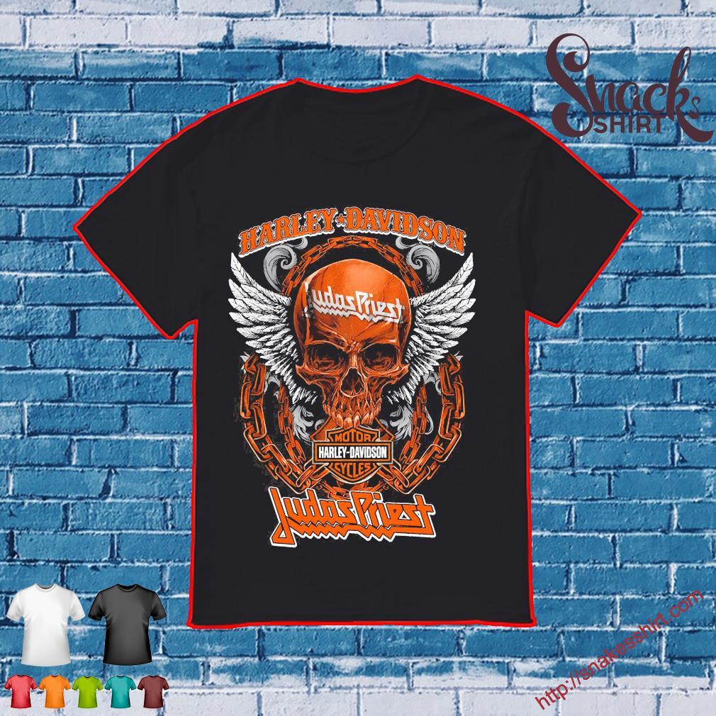 Skull Motor Harley Davidson Cycles Judas Priest shirt