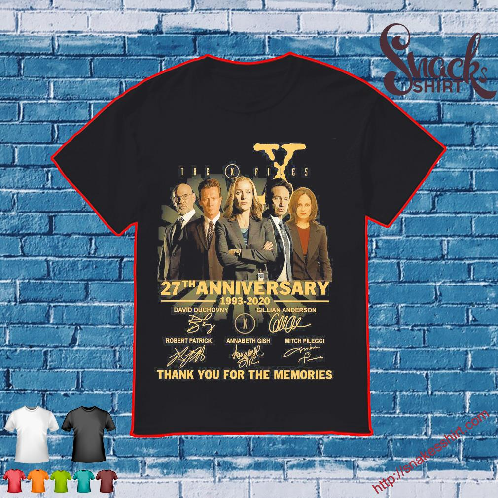 The X Files 27th anniversary 1993 2020 thank You for the memories signatures shirt