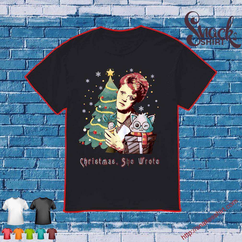 Angela Lansbury Christmas she wrote shirt