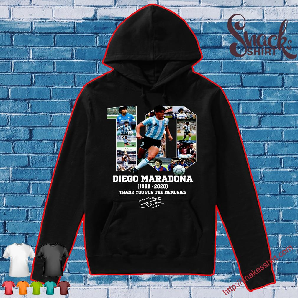 10 diego maradona 1969 - 2020 thank you the memories s Hoodie