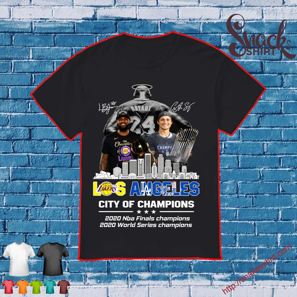 Los Angeles Lakers And Los Angeles Dodgers City Of Champion 2020 Shirt