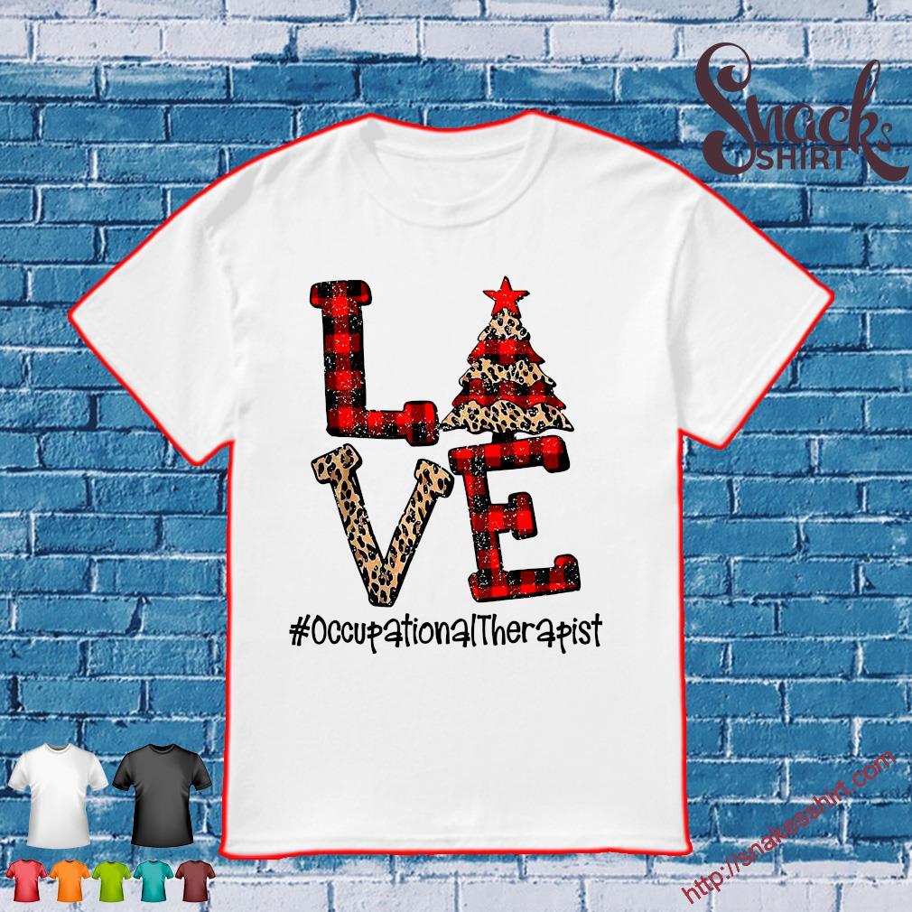 Love Occupational Therapist Christmas shirt