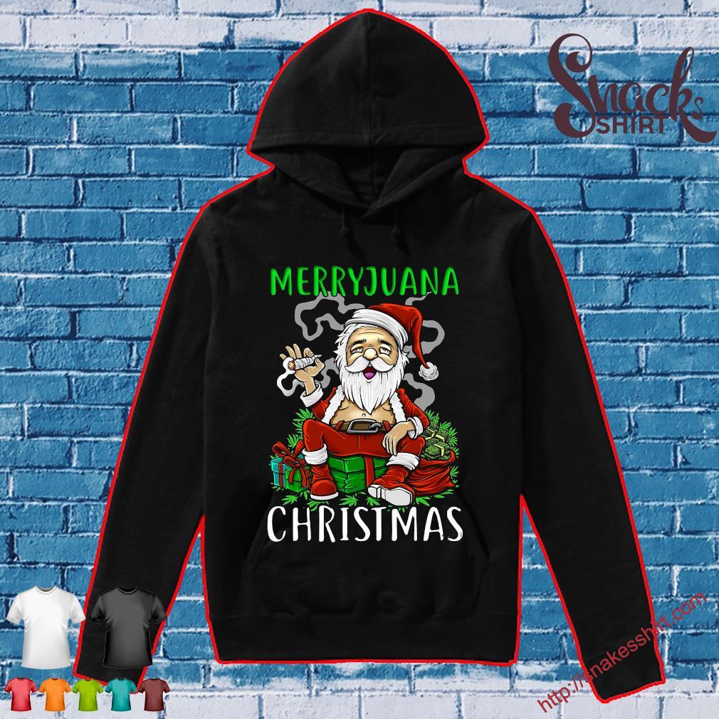 Merryjuana christmas santa smoking s Hoodie