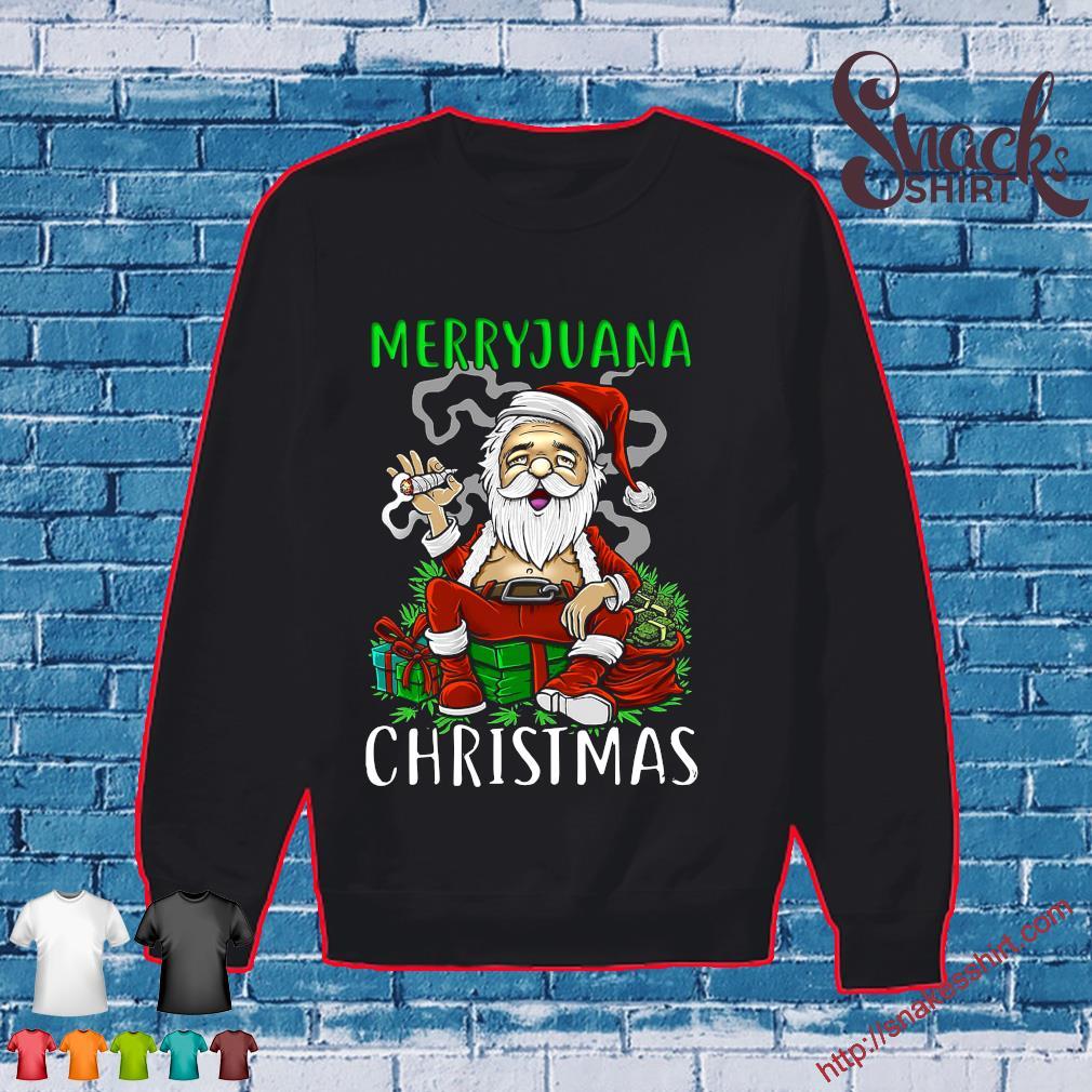 Merryjuana christmas santa smoking s Sweater