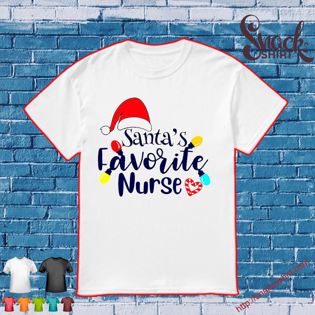 Santa's favorite nurse shirt