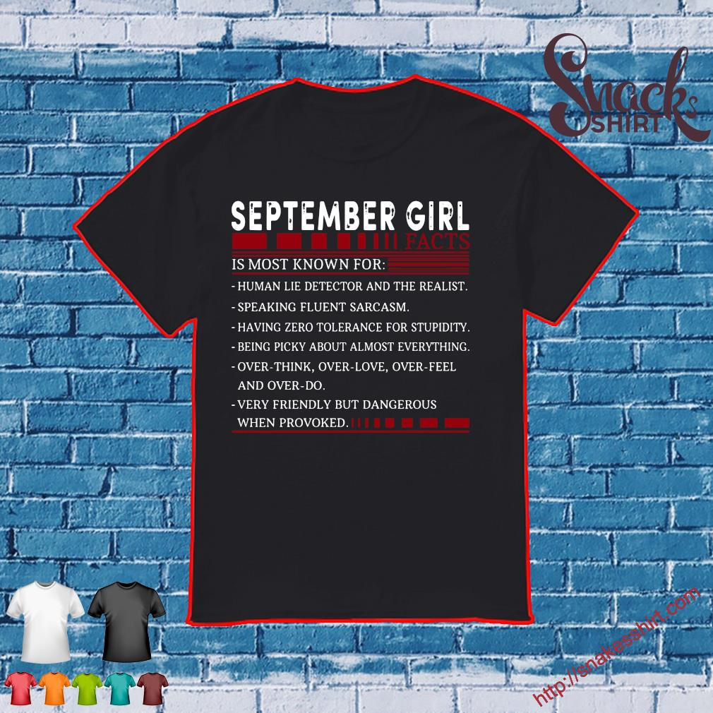 September Girl Facts Is Most Known For Shirt