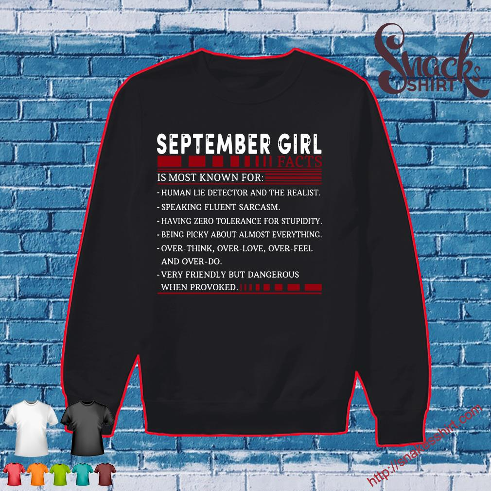 September Girl Facts Is Most Known For Shirt Sweater