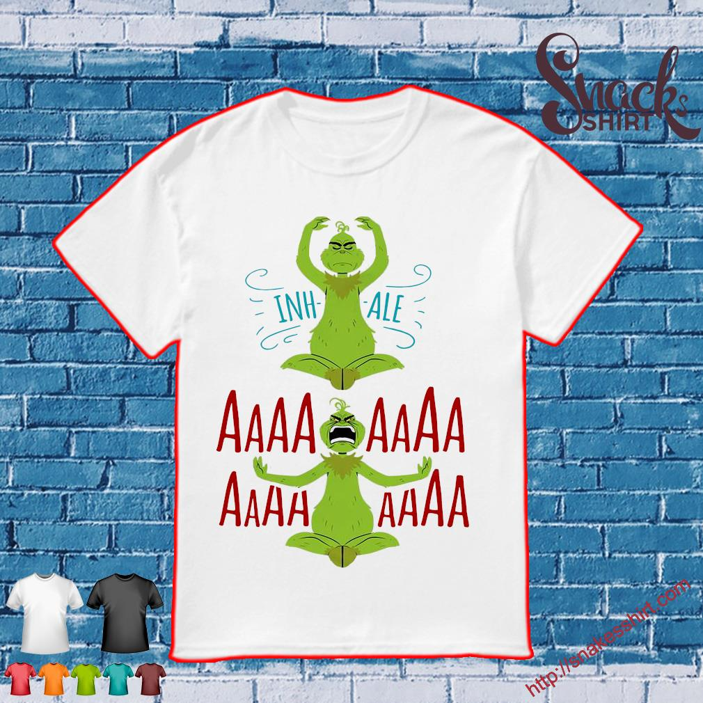 The Grinch Yoda Inhale Aaaaaa Shirt