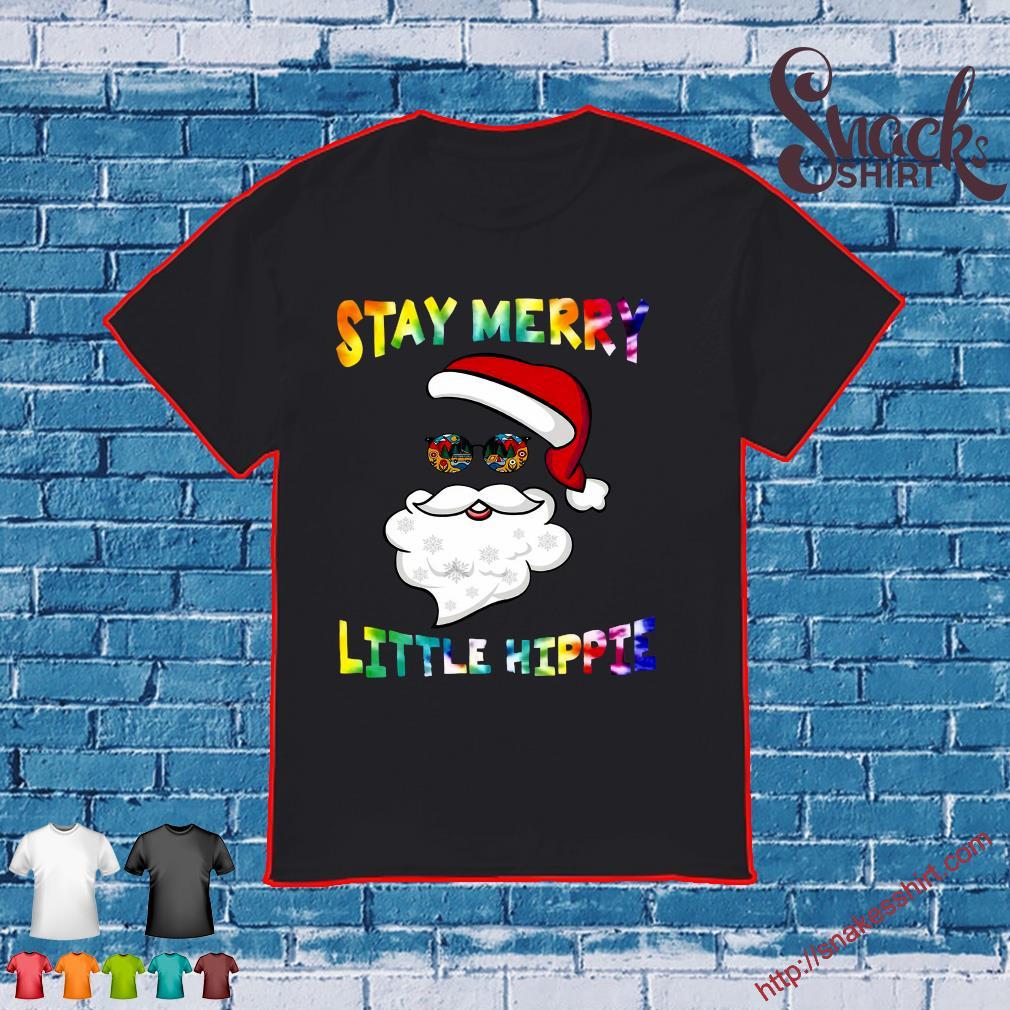 LGBT Merry Christmas stay merry little hippie shirt