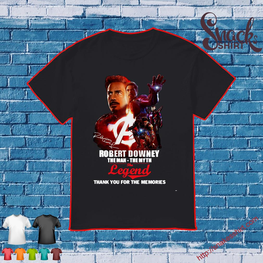 Robert downey the man - the myth the legend thank you for the memories shirt