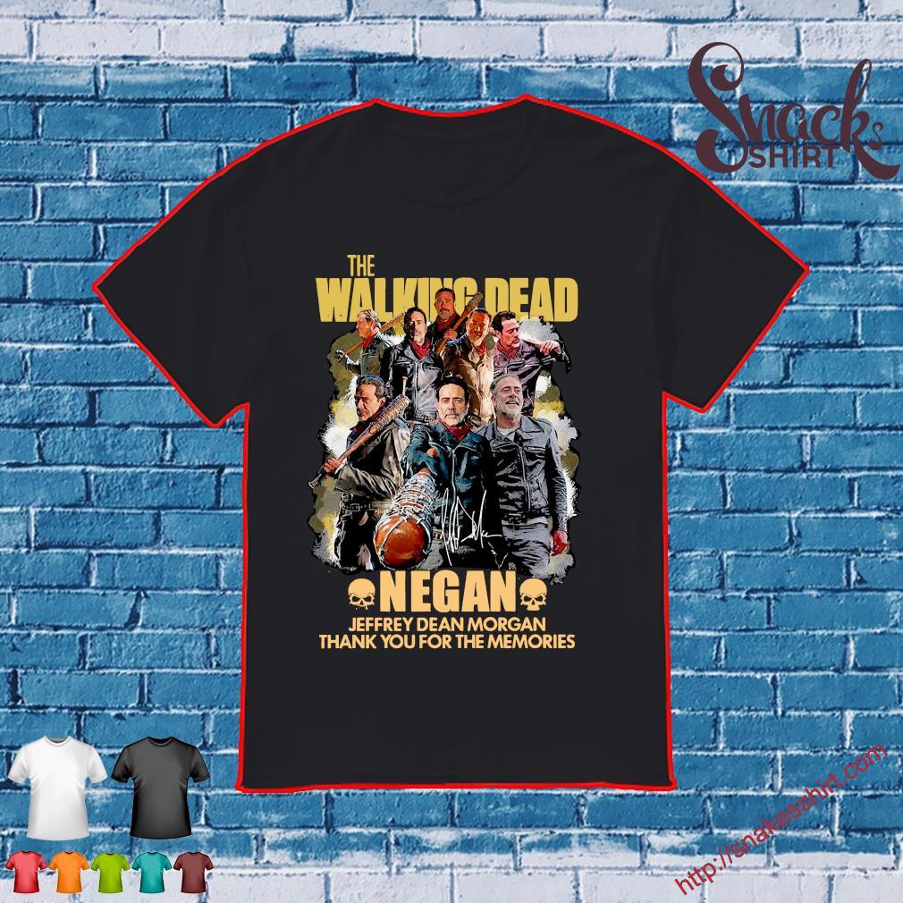 The walking dead negan jeffrey dean morgan thank you for the memories shirt