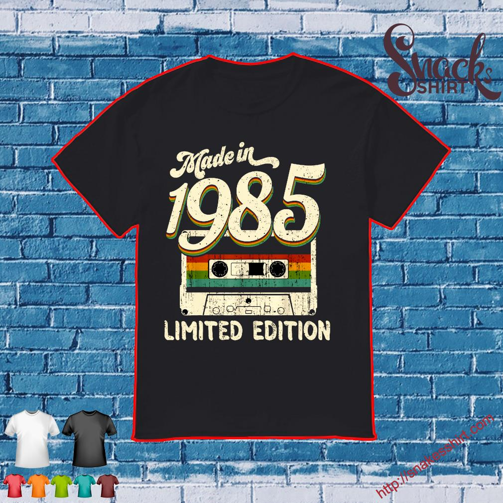 Vintage 1985 Made In 1985 35th Birthday Gift Retro Cassette Shirt