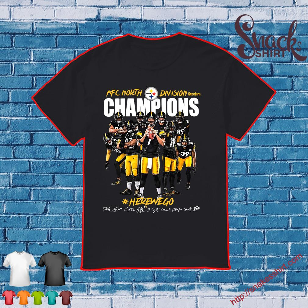 Afc North Division Champions Pittsburgh Steelers Here We Go Football shirt