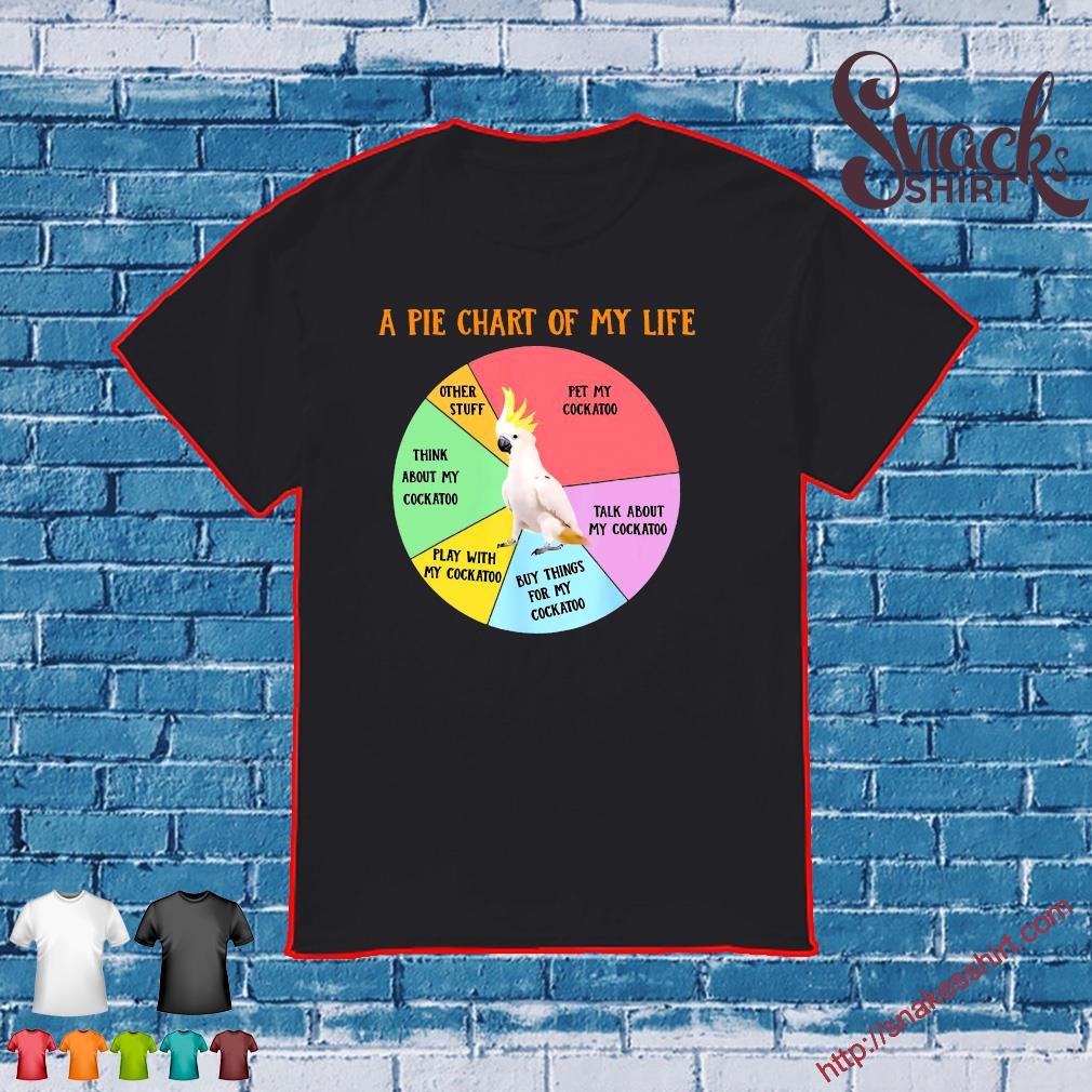 Funny Pie Chart Of Life Cockatoo Parrot Bird Apparel Shirt