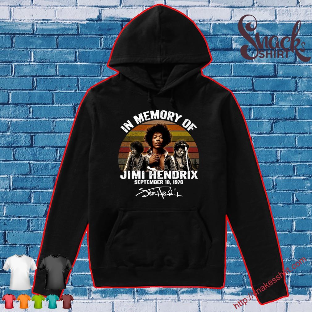 In memory of Jimi Hendrix september 18 1970 vintage s Hoodie