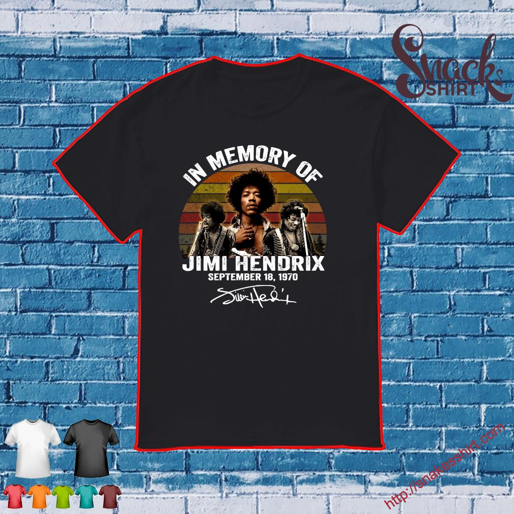 In memory of Jimi Hendrix september 18 1970 vintage shirt