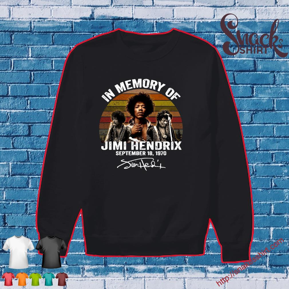In memory of Jimi Hendrix september 18 1970 vintage s Sweater