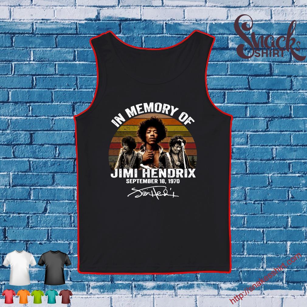 In memory of Jimi Hendrix september 18 1970 vintage s Tank top
