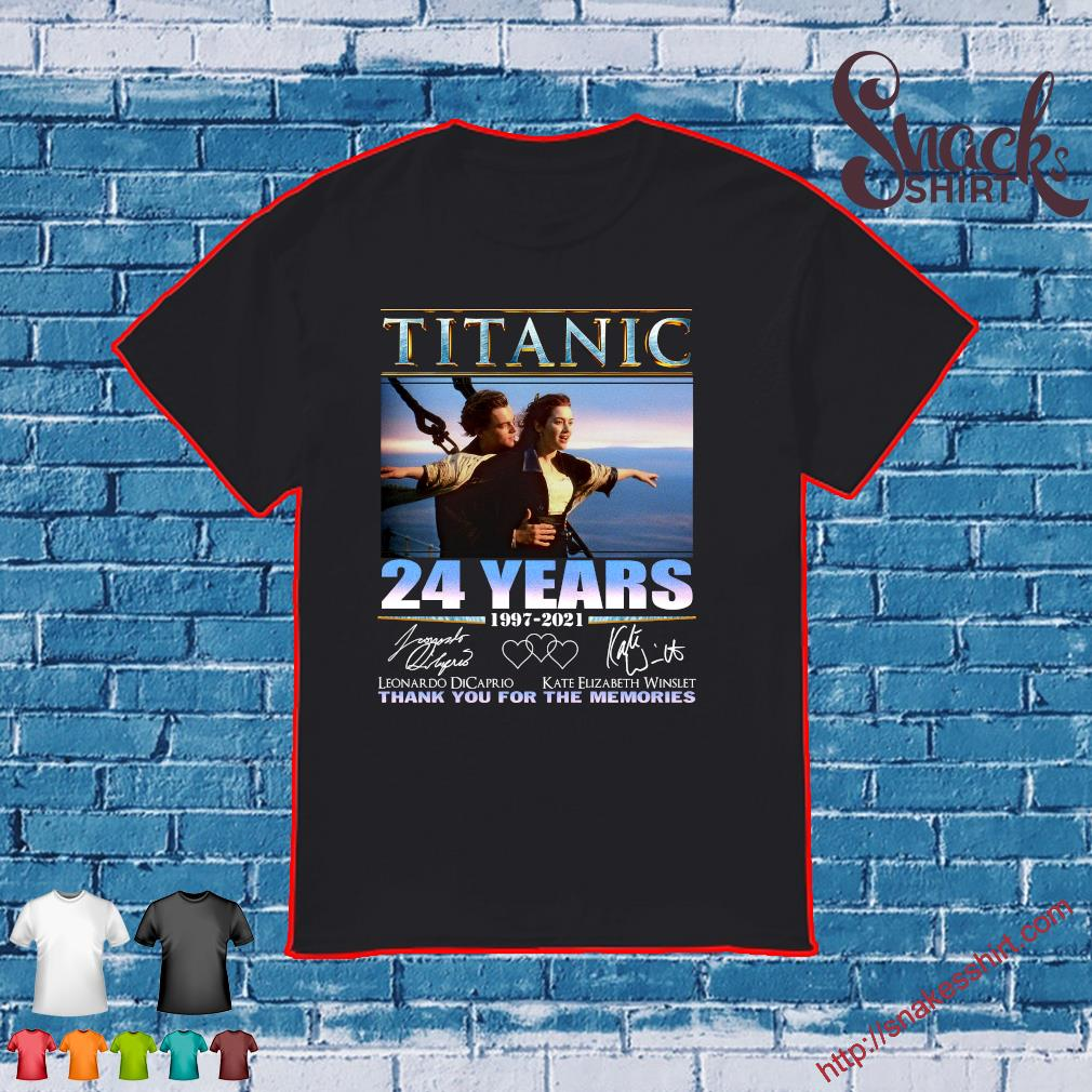 Titanic 24 year 1997-2021 thank you for the memories shirt
